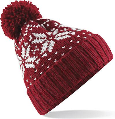 Beechfield Zimní čepice Snowstar - červenobílá - Glami.cz eb244d8726