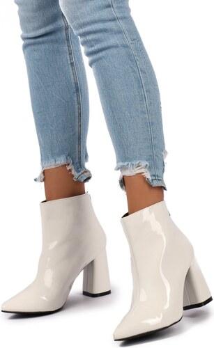 United Fashion Biele členkové čižmy Sienna - Glami.sk 29555ec25d0