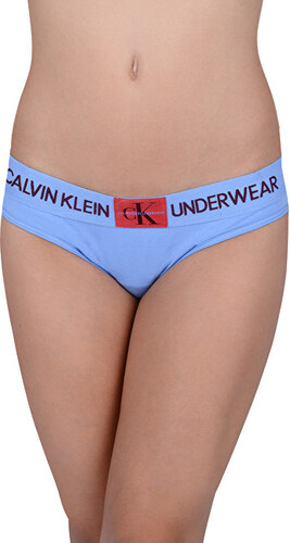 bc53f3ef241 Calvin Klein Dámské kalhotky Bikini Periwinkle w manic red patch QF4921E-PWB