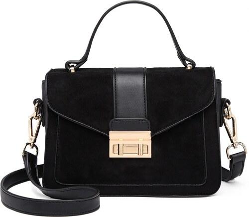 Lulu Bags (Anglie) Stylová černá menší dámská kabelka Miss Lulu ... 483ffde6df7