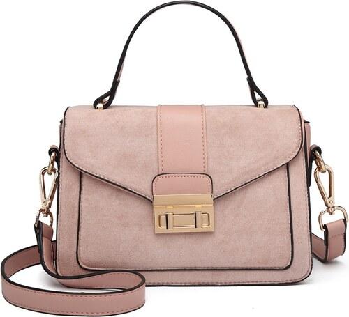 f4dacb7d0e2a8 Lulu Bags (Anglie) Štýlová ružová menšia dámska kabelka Miss Lulu ...