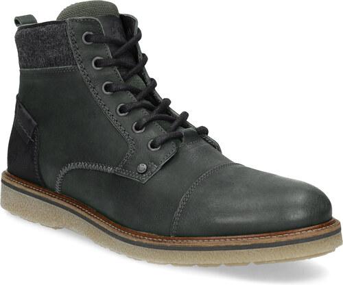 Baťa Zelená kožená kotníčková pánská obuv - Glami.cz cc8ea3e369