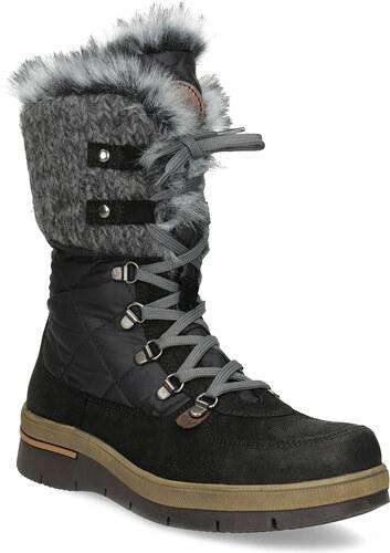 2afd4fbae7 Weinbrenner Dámska čierna zimná obuv s kožúškom - Glami.sk