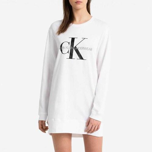 7a5bbf4a8e CALVIN KLEIN Biela nočná košeľa XS - Glami.sk