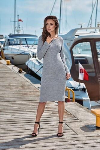 adf574f76e47 Dámske šaty úpletové Lemoniade LS274 sivé - Glami.sk