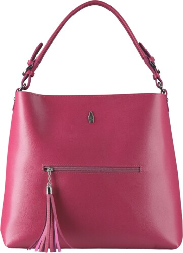 591920592 Kožená luxusná kabelka cez rameno Wojewodzic ružová Celine 31527, NEW