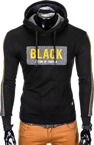 Mikina pánská OMBRE B853 BLACK - Glami.cz 46bc672f8f