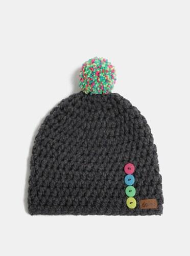 6427aa73d Sivá pletená zimná čiapka s brmbolcom DOKE - Glami.sk