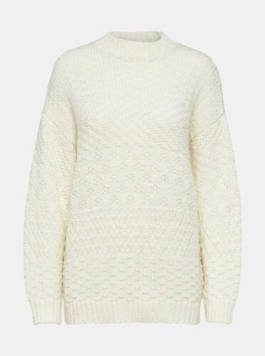 eb52e6391581 Krémový sveter s prímesou vlny Selected Femme Hilla - Glami.sk