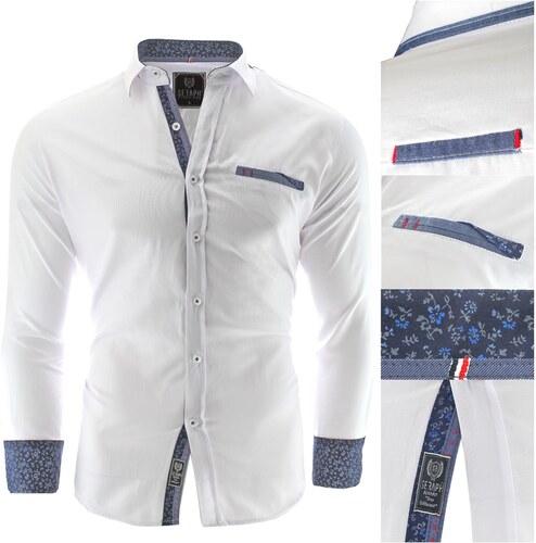 Bílá košile Prato - Glami.cz d25e683245