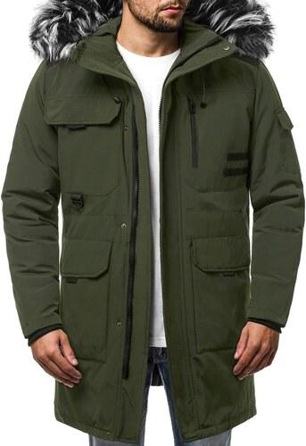 Modern zöld téli parka kabát OZONEE JS HS201809 - Glami.hu 092b06f75f