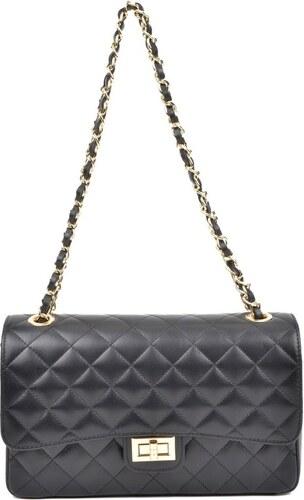 Čierna kožená listová kabelka Isabella Rhea Swift Nero - Glami.sk 2924bac3ecf