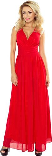 fa5f17b29cc7 Numoco Šifónové maxi šaty – červené - Glami.sk