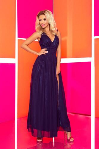 4051d8841534 Numoco Šifónové maxi šaty – námornícka modrá - Glami.sk