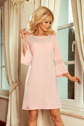 573f2e75569c Numoco Dámske šaty MARGARET – pastelovo ružové - Glami.sk