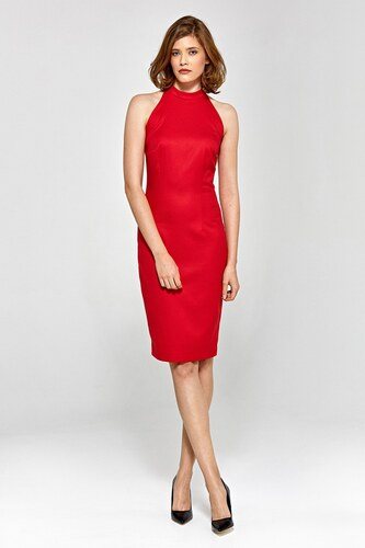 4b43da66a4 Dámske puzdrové šaty Colett cs14 - červené - Glami.sk