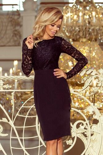 e2d37a180107 Numoco Dámske elegantné šaty s čipkou 216-2 EMMA - čierne - Glami.sk