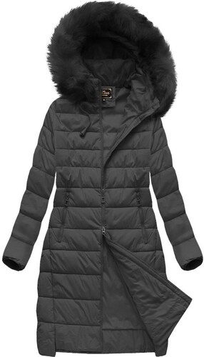 Libland Čierna dámska zimná bunda prešívaná (7754BIG) - Glami.sk fc270b07b04