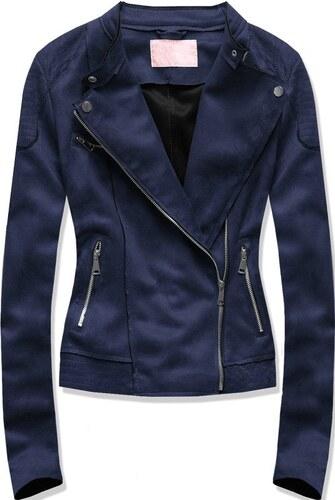 Semišová dámská bunda modrá - Glami.cz af6d3c989e7