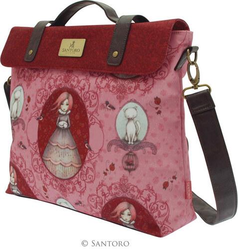 Santoro červená kabelka Mirabelle Satchel - Glami.cz 007c13aad35
