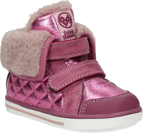 cf083cfaadaf8 Bubblegummers Ružová detská zimná obuv s kožúškom - Glami.sk