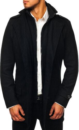 Černý pánský zimní kabát Bolf NZ02 - Glami.cz e4cf00c6901