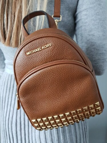 f0a6339c1e Dámský batoh Michael Kors Abbey Luggage Backpack XS hnědý - Glami.cz