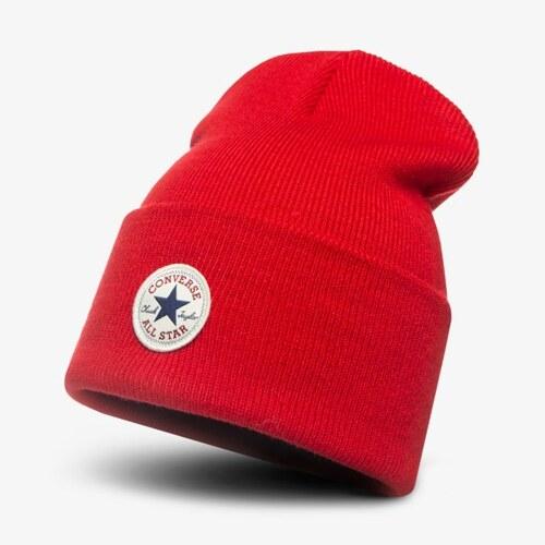 3778cdf4671 Converse Čepice Zimní Tall Cuff Watchcap Knit Muži Doplňky Čepice 609706  Červená