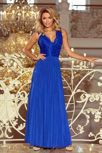 c5a1a458d6b2 Numoco Dlhé večerné šaty 211-3 LEA - modré - Glami.sk