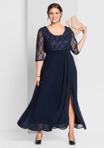 sheego Style Večerní šaty námořická modrá - Glami.cz e354e713be8