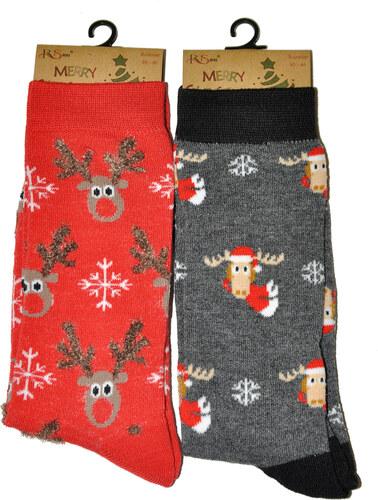 bf4950cfe83 Pánské ponožky RiSocks Merry Christmas 3058 - Glami.cz