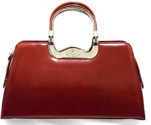 99d5af02a3 Červená kožená kabelka Walter Valentino 005 - Glami.cz