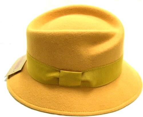 f7adc734e3f made in Italy Okrový dámský vlněný klobouk - Glami.cz