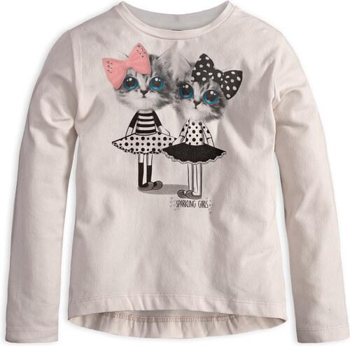 32ac0a562874 Dievčenské tričko s dlhým rukávom MixńMATCH MAČIČKY biele - Glami.sk