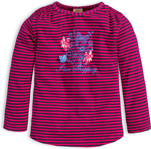 9d6f2cff7e1 Dívčí triko DIRKJE STYLISH růžový proužek - Glami.cz