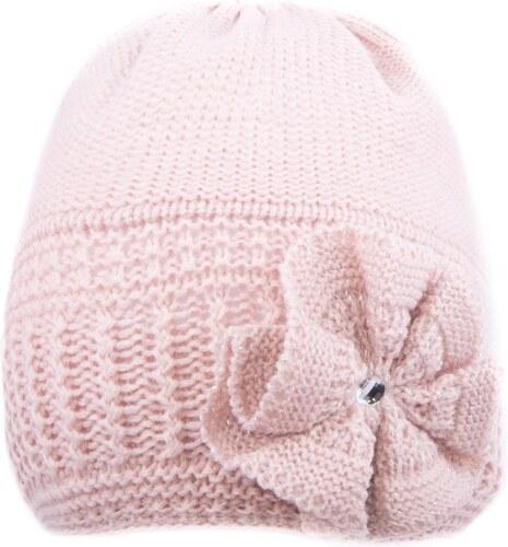 Vinox Elegantní zimní čepice s aplikací LINDA vx-8006 light pink ... d10f63999b