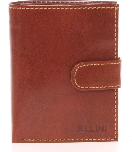 42dc9291eec Bezpečná pánská kožená peněženka světle hnědá - Ellini Orion hnědá ...
