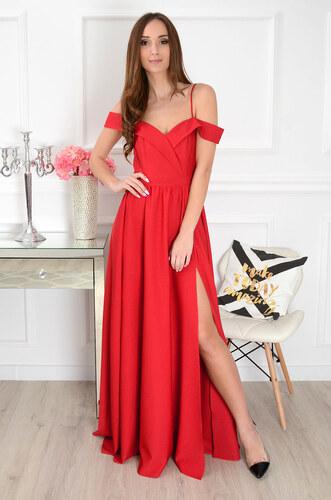 PLANETA-MODY Originálne spoločenské šaty Marylin CO-35080 červené ... 2ed9eddfd31