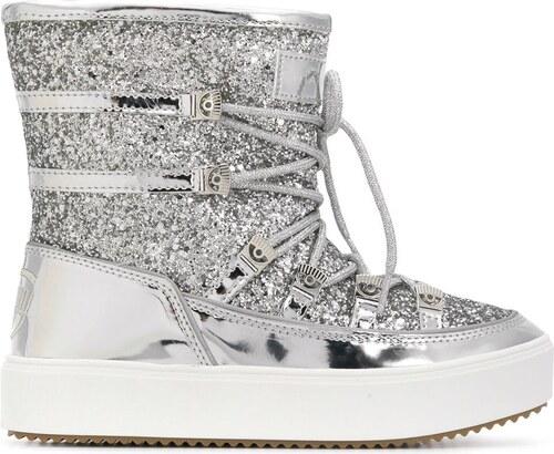 264fe29aeb1 Chiara Ferragni glitter snow boots - Silver - Glami.sk