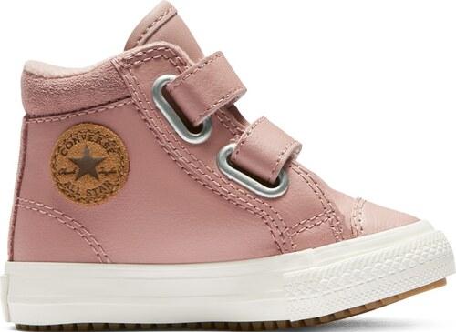 ... Converse kožené dívčí boty Chuck Taylor All Star 2V PC Boot Hi Rust Pink  - 22 07e8bcfc87
