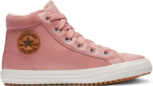 f48623d65c2b ... Converse ružové kožené topánky Chuck Taylor All Star PC Boot Hi Rust  Pink