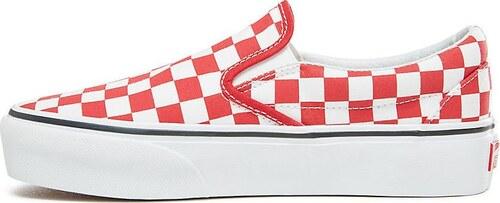 Obuv Vans UA Classic Slip-On Platform (CHECKERBOARD) RACING RED  vn0a3jezs4e1 Veľkosť 38 1bc9690e92a