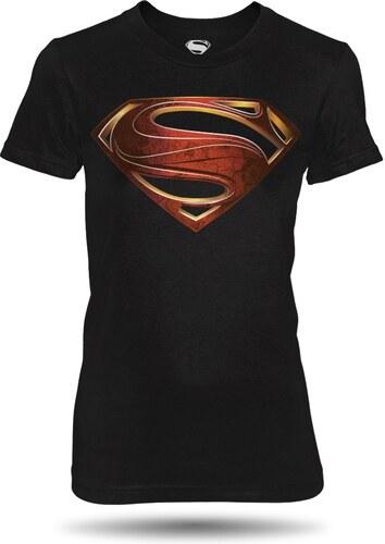 b89b966cd02 oficiální kolekce Superman Tričko Superman Man of Steel dámské černé ...