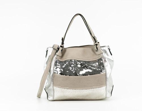 Trendy třpytivá shopper kabelka s flitry přes rameno Silvia Rosa SR3085 49f9f6f4863