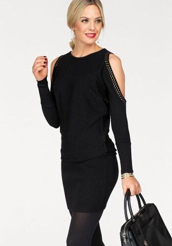 Melrose Pletené šaty černá - Glami.cz 4d24db69cc