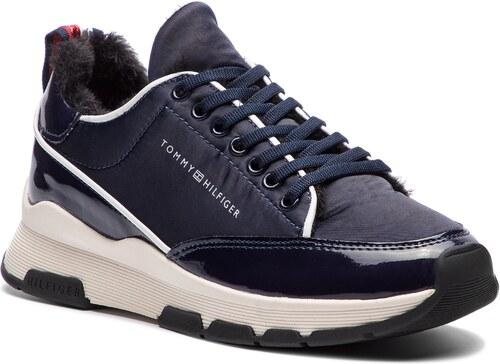 Sportcipő TOMMY HILFIGER - Cool Technical Satin Sneaker FW0FW03970 Midnight  403 7be6b5269a