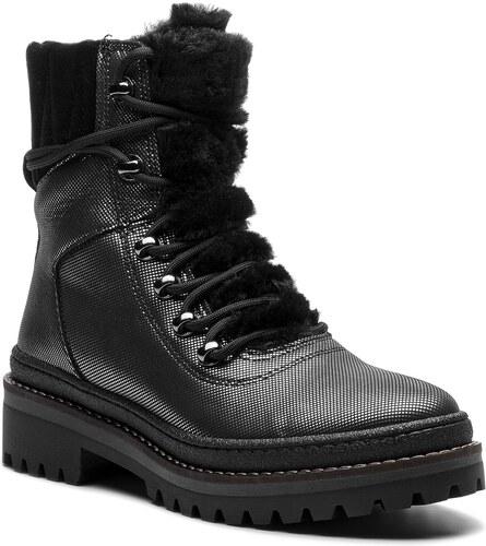 c715d3fab5 Členková obuv TOMMY HILFIGER - Warmlined Glitter Lace Up Boot FW0FW03977  Silver 000
