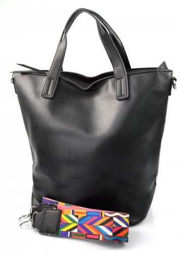 menší černá shopper taška jayden Valeria 23601 - Glami.cz adc4f7ff24c