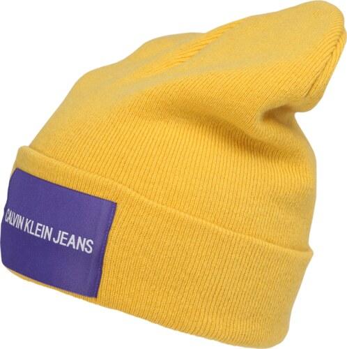 80260c47bdc Calvin Klein Jeans Čepice  J CALVIN KLEIN JEANS BEANIE M  žlutá   tmavě  fialová