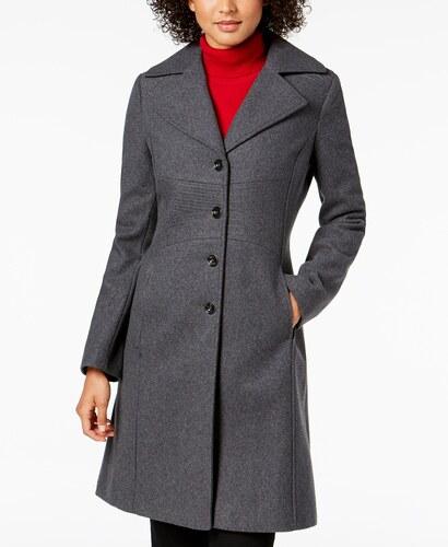4f0677148d5 Dámský kabát Tommy Hilfiger Single Breasted Coat šedá - Glami.sk